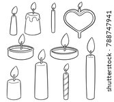 vector set of candle | Shutterstock .eps vector #788747941