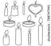 vector set of candle | Shutterstock .eps vector #788747941