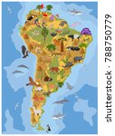 south america flora and fauna... | Shutterstock .eps vector #788750779