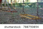old weathered rusty swing set...   Shutterstock . vector #788750854