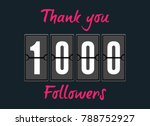 1000 followers . greeting card... | Shutterstock .eps vector #788752927
