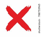 an image of red grunge letter x ... | Shutterstock .eps vector #788753965
