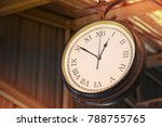 close up of vintage death clock ...   Shutterstock . vector #788755765