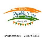 vector illustration of republic ... | Shutterstock .eps vector #788756311