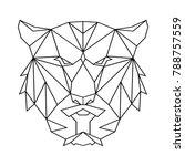 tiger polygon simple icon | Shutterstock .eps vector #788757559