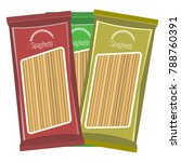 spaghetti or pasta package... | Shutterstock .eps vector #788760391