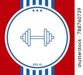 barbell line icon | Shutterstock .eps vector #788760739