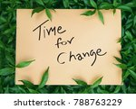 time for change word with... | Shutterstock . vector #788763229