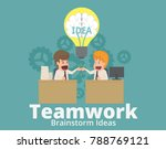 businessman and teammate or... | Shutterstock .eps vector #788769121