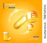 vitamin e gold shining pill... | Shutterstock .eps vector #788769241