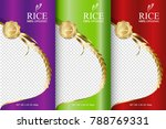 rice food or thai food  banner... | Shutterstock .eps vector #788769331