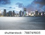 abstract asphalt and city... | Shutterstock . vector #788769835
