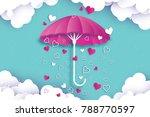 happy valentines day. purple... | Shutterstock .eps vector #788770597