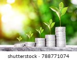 close up of stacking coins and... | Shutterstock . vector #788771074
