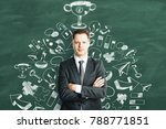 leadership and knowledge... | Shutterstock . vector #788771851