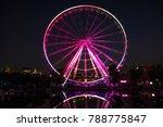 illuminated ferris wheel in the ...   Shutterstock . vector #788775847