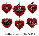 collection of hearts with... | Shutterstock .eps vector #788777311