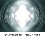 infinite round tunnel on grey... | Shutterstock . vector #788777455
