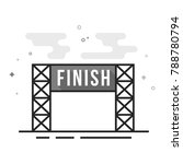 finish line icon in flat... | Shutterstock .eps vector #788780794