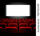 movie cinema premiere screen...   Shutterstock .eps vector #788781439