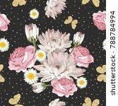 floral seamless pattern.... | Shutterstock .eps vector #788784994