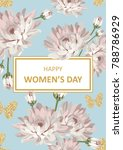 happy womens day. shabby chic... | Shutterstock .eps vector #788786929