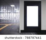 mock up blank banner frame... | Shutterstock . vector #788787661