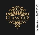 classic   luxurious letter c... | Shutterstock .eps vector #788793301