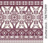 monochrome floral seamless...   Shutterstock . vector #788793499