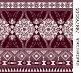 monochrome floral seamless... | Shutterstock . vector #788793505