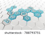 medical icons in a white... | Shutterstock . vector #788793751