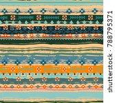 ethnic. boho seamless pattern.... | Shutterstock . vector #788795371