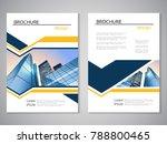 vector modern brochure ... | Shutterstock .eps vector #788800465