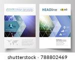 business templates for brochure ... | Shutterstock .eps vector #788802469