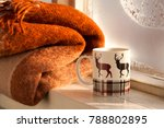 tea in winter frost on the... | Shutterstock . vector #788802895