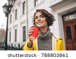 picture of cheerful pretty...   Shutterstock . vector #788803861