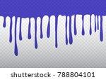 vector paint drips.dripping... | Shutterstock .eps vector #788804101