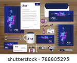 vector abstract stationery... | Shutterstock .eps vector #788805295