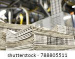 stack of freshly printed daily... | Shutterstock . vector #788805511