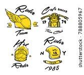 moto biker theme  icon  logo or ... | Shutterstock .eps vector #788805967