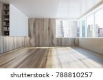 empty room interior with white... | Shutterstock . vector #788810257
