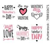 vector valentine's day hand... | Shutterstock .eps vector #788810671