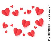 valentines day pink and red... | Shutterstock .eps vector #788811739