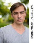 portrait of young handsome man... | Shutterstock . vector #788813191