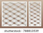 set decorative card for cutting.... | Shutterstock .eps vector #788813539