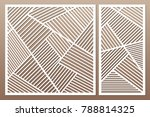 set decorative card for cutting.... | Shutterstock .eps vector #788814325