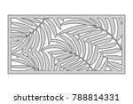 template for cutting. palm... | Shutterstock .eps vector #788814331