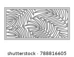 template for cutting. palm... | Shutterstock .eps vector #788816605