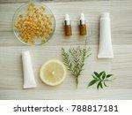 natural cosmetic skincare serum ... | Shutterstock . vector #788817181