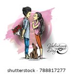 romantic lovers for valentine's ... | Shutterstock .eps vector #788817277